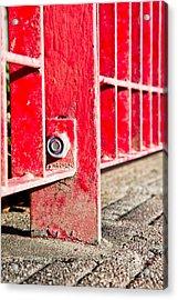 Red Bars Acrylic Print