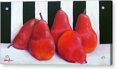 Red Bartletts Acrylic Print by Colleen Brown