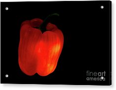 Glow-in-the-dark Red Bell Pepper Acrylic Print
