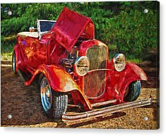 The Red Bell Roadster Acrylic Print