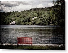 Acrylic Print featuring the photograph Red Bench by Christopher Meade