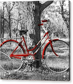 Red Bicycle II Acrylic Print by James Granberry