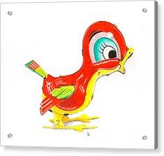 Red Bird Acrylic Print