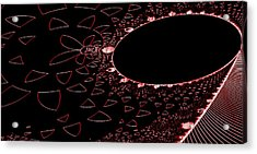 Red Black And Beauty Acrylic Print by Thomas Smith