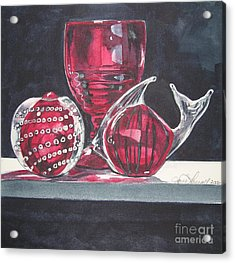 Red Black And Clear Acrylic Print
