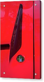 Acrylic Print featuring the photograph Red Black And Shapes On Hot Rod Hood by Gary Slawsky