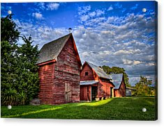 Acrylic Print featuring the photograph Red Blue And Green Barns At Windsor Castle by Williams-Cairns Photography LLC