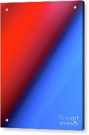 Acrylic Print featuring the photograph Red Blue by CML Brown