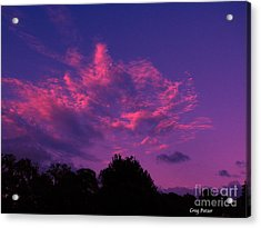 Red Blue Sky Acrylic Print by Greg Patzer