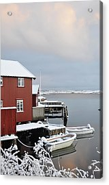 Boathouses Acrylic Print