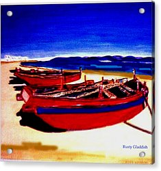 Red Boats Acrylic Print