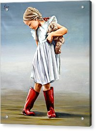Red Boots Acrylic Print by Natalia Tejera