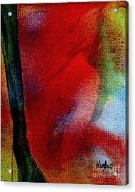 Red Boudoir Acrylic Print by Susan Kubes