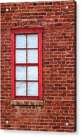 Acrylic Print featuring the photograph Red Brick And Window by James Eddy