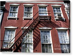 Red Brick In New Orleans Acrylic Print by John Rizzuto