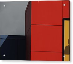 Red Building Abstract 1 Acrylic Print