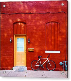 Red Building Acrylic Print