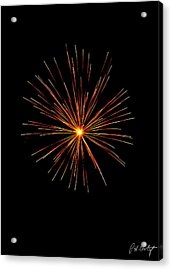Red Burst Acrylic Print by Phill Doherty