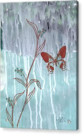 Red Butterfly Acrylic Print by Jennifer Bonset