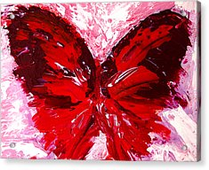 Red Butterfly Acrylic Print