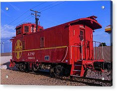 Red Caboose  Acrylic Print by Garry Gay
