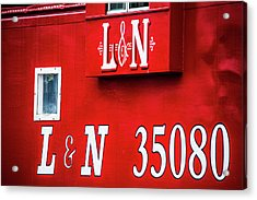 Acrylic Print featuring the photograph Red Caboose by Parker Cunningham