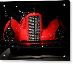 Red Cadillac Acrylic Print by Transportation Photographs