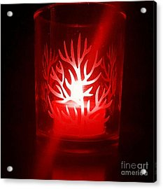 Red Candle Light Acrylic Print