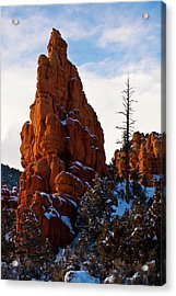Red Canyon Sentinel Acrylic Print by James Marvin Phelps