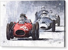 Red Car Ferrari D426 1958 Monza Phill Hill Acrylic Print