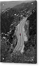 Red Car Acrylic Print by Jim Wright