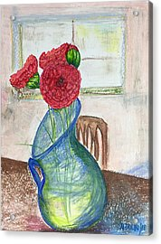 Red Carnations Acrylic Print