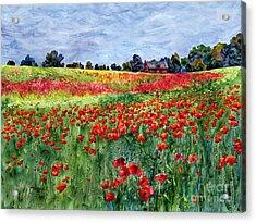 Red Carpet Acrylic Print by Hailey E Herrera