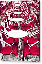 Red Chairs In Venice Acrylic Print