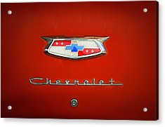 Acrylic Print featuring the photograph Red Chevy Bel-air Trunk by Marilyn Hunt