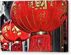 Red Chinese Lanterns Acrylic Print