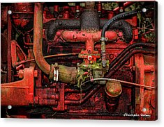 Red Acrylic Print by Christopher Holmes