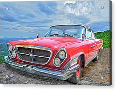 Red Chrysler 300 Acrylic Print