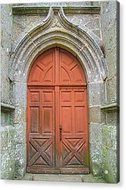 Red Church Door IIi Acrylic Print by Helen Northcott