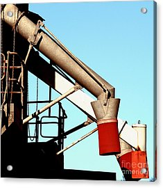Acrylic Print featuring the photograph Red Chutes by Stephen Mitchell