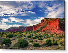 Red Cliffs Of Caprock Canyon 2 Acrylic Print