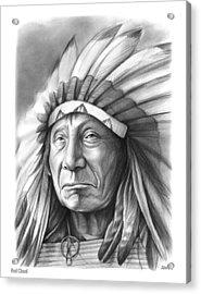 Red Cloud Acrylic Print by Greg Joens