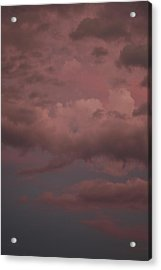 Acrylic Print featuring the photograph Red Clouds Iv by Dylan Punke