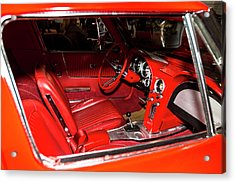 Red Corvette Stingray Acrylic Print by Amyn Nasser