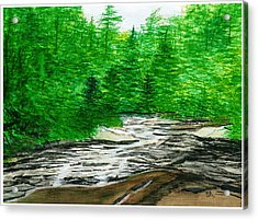 Red Creek Acrylic Print