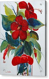 Red Dance Acrylic Print