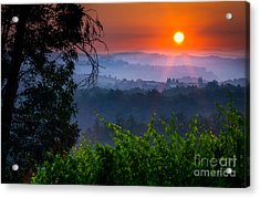 Red Dawn Acrylic Print by Inge Johnsson