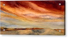 Red Desert Acrylic Print by Nancy  Ethiel