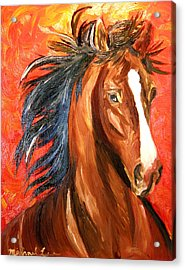 Red Devil Acrylic Print by Michael Lee