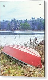 Red Dingy Acrylic Print by Edward Fielding
